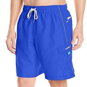 Speedo Marina Volley Blue Swim Bottoms Trunks